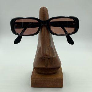 Vintage Calvin Klein 4028 Black Oval Sunglasses